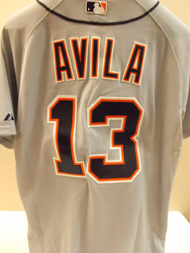 Photo of Game-Used Alex Avila Road Jersey