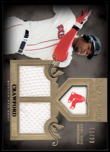 Photo of 2011 Topps Tier One Top Shelf Relics Dual #TSR17 Carl Crawford
