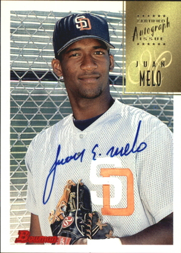 Photo of 1997 Bowman Certified Blue Ink Autographs #CA53 Juan Melo