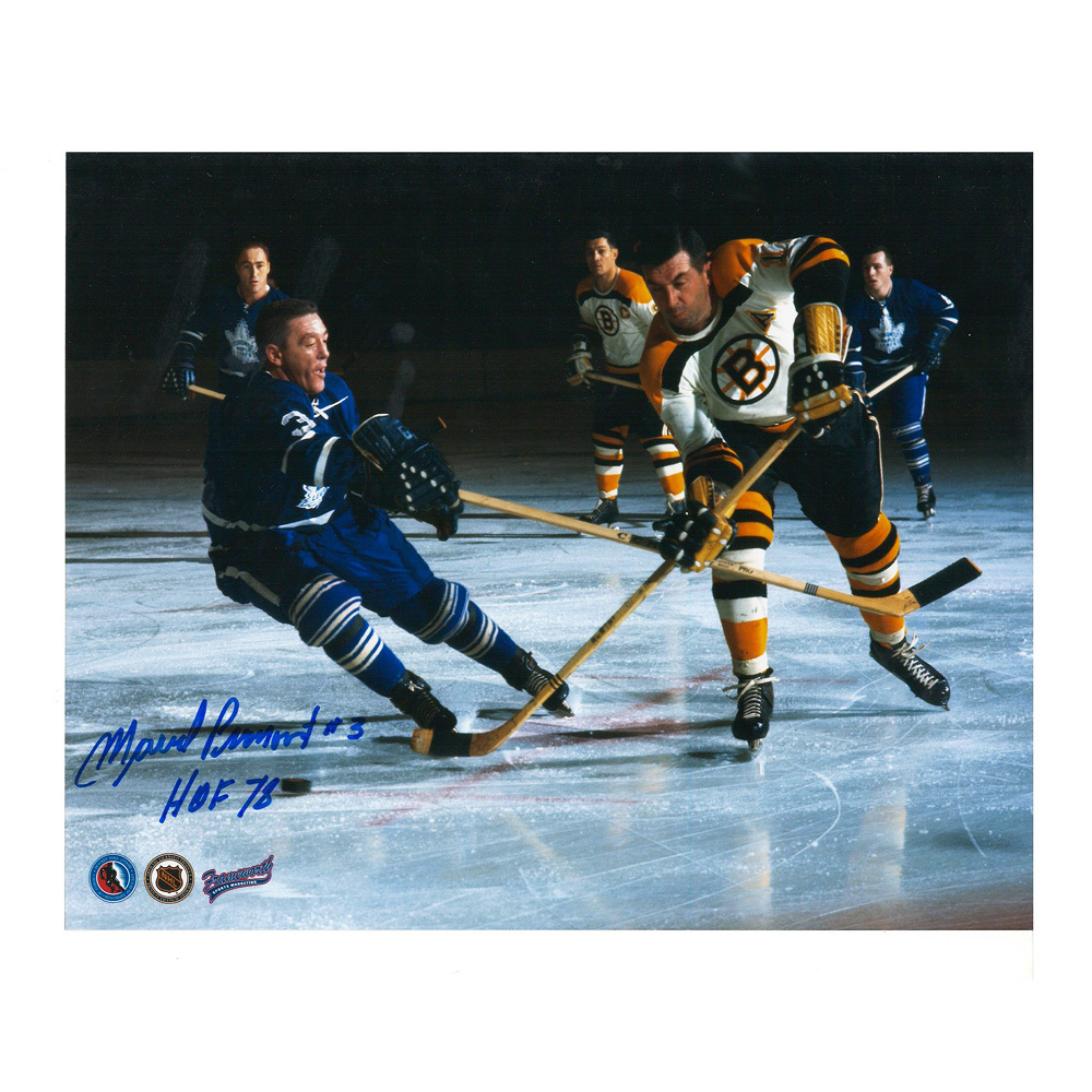 MARCEL PRONOVOST Signed Toronto Maple Leafs 8 X 10 Photo - 70487