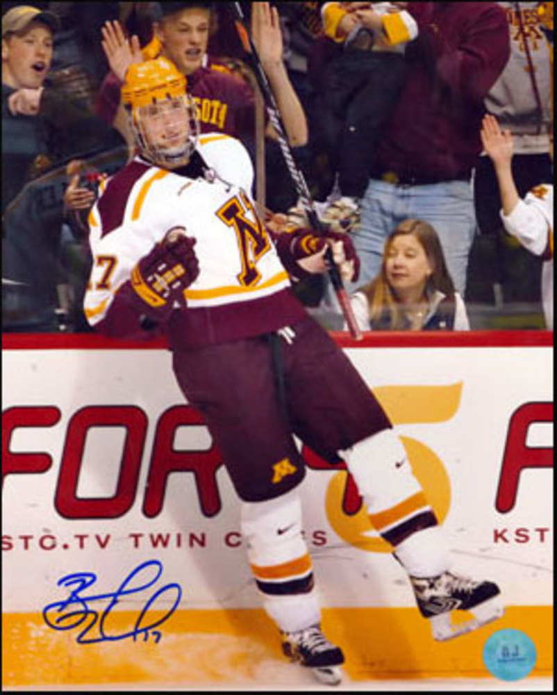 BLAKE WHEELER University of Minnesota SIGNED 8x10 Photo *Winnipeg Jets*