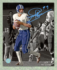 Joe Theismann Toronto Argonauts Autographed Spotlight 11x14 Photo