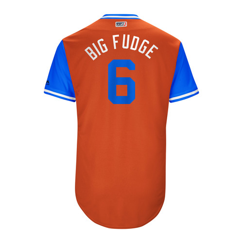 "Photo of Jake ""Big Fudge"" Marisnick Houston Astros Game-Used Players Weekend Jersey"