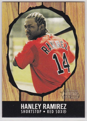 Photo of 2003 Bowman Heritage #196 Hanley Ramirez Rookie Card -- Red Sox post-season