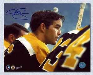 Derek Sanderson Bruins Rookie Autographed Rookie Bench 8x10 Photo