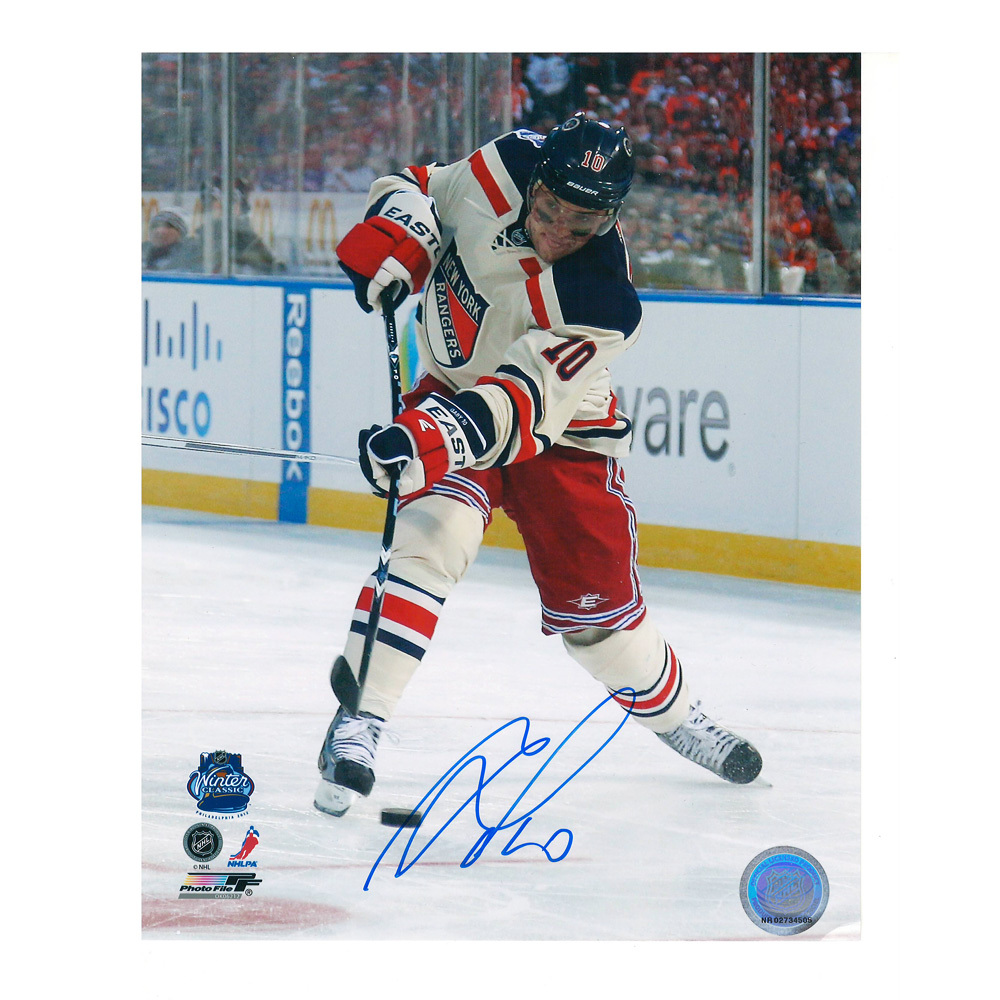 MARIAN GABORIK Signed New York Rangers 2012 W.C. 8 X 10 Photo - 70431