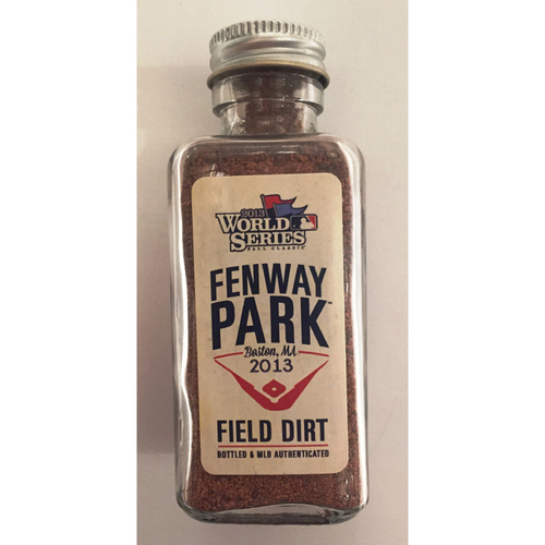 Photo of 2013 World Series Game-Used Dirt Jar - Fenway Park