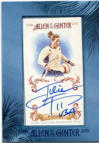 Photo of 2015 Topps Allen and Ginter Framed Mini Autographs #AGAJFO Julie Foudy