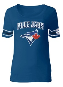 Toronto Blue Jays Women's Baby Jersey Scoop T-Shirt by 5th & Ocean