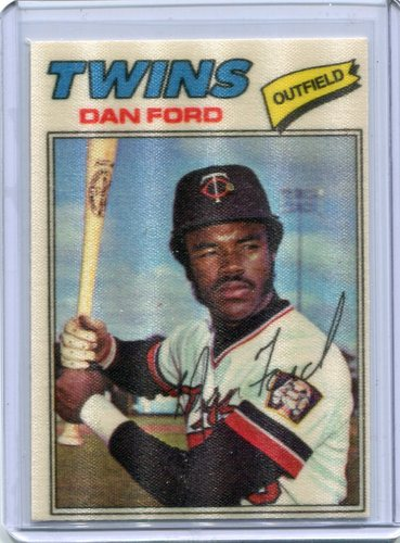 Photo of 1977 Topps Cloth Stickers #16 Dan Ford