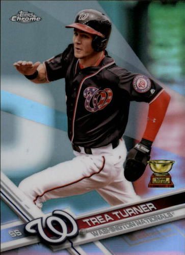 Photo of 2017 Topps Chrome Refractors #194 Trea Turner