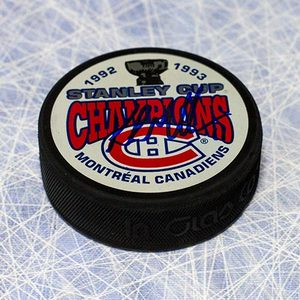 Kirk Muller Montreal Canadiens Autographed 1993 Stanley Cup Puck