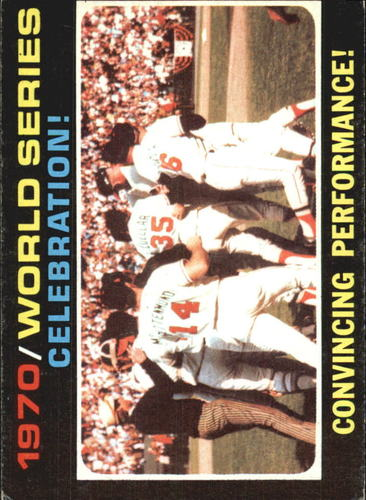 Photo of 1971 Topps #332 World Series Summary/Orioles Celebrate