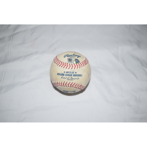 Photo of Evan Longoria Game-Used Baseball from Club Record of Games Played as a Tampa Bay Ray Benefiting Pet Pal Animal Shelter