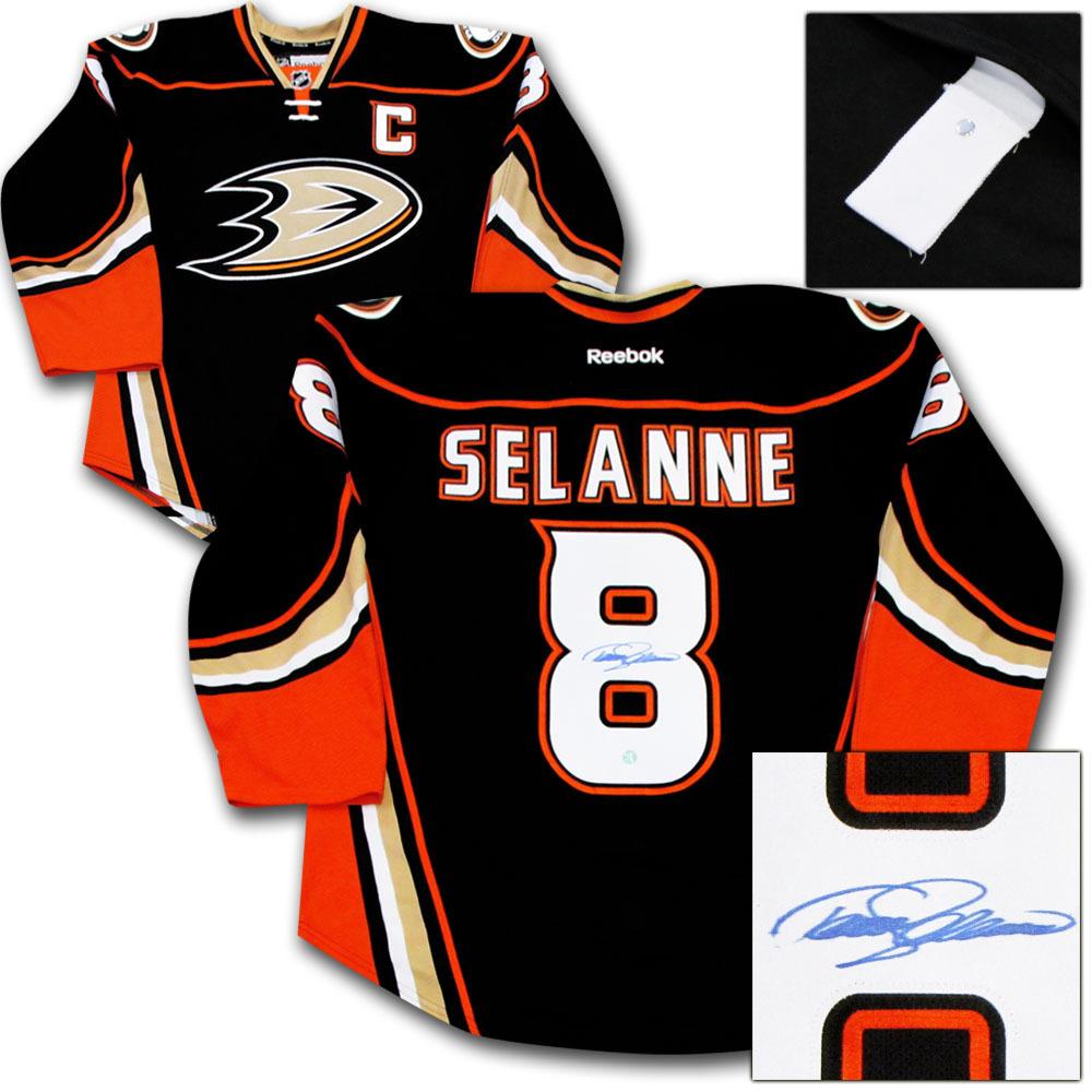 Teemu Selanne Autographed Anaheim Ducks Authentic Pro Jersey