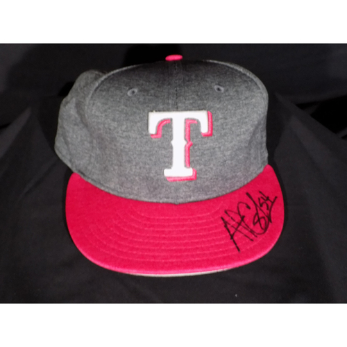 Photo of Andrew Cashner Autographed Commemorative Mother's Day Cap Auctioned To Benefit Jonathan Lucroy Breast Cancer Research Effort