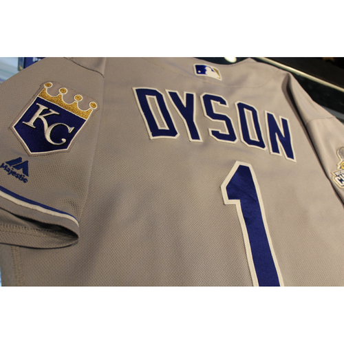 Photo of Jarrod Dyson Game-Used Jersey (6/29/16 KC at STL) (Size 42)