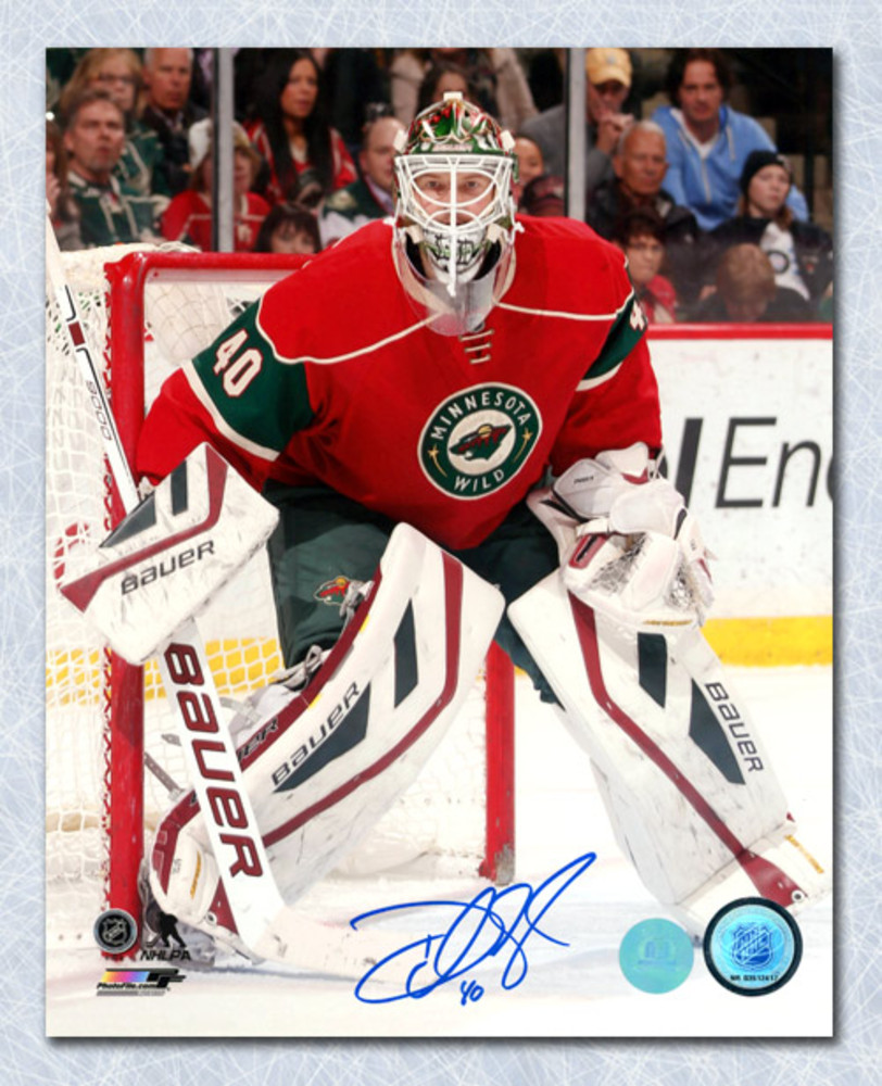 Devan Dubnyk Minnesota Wild Autographed Hockey Goalie 8x10 Photo
