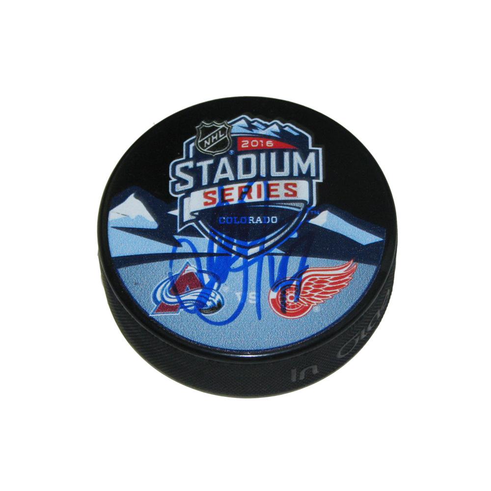 ALEXEY MARCHENKO Signed 2016 Stadium Series Souvenir Puck - Detroit Red Wings