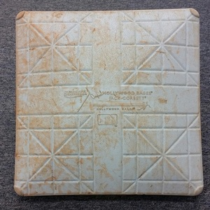 Authenticated Game-Used 1st Base from May 24, 2015 vs Seattle Mariners. Ryan Goins hits his 1st Home Run of the 2015 Season. - used for innings 1-5