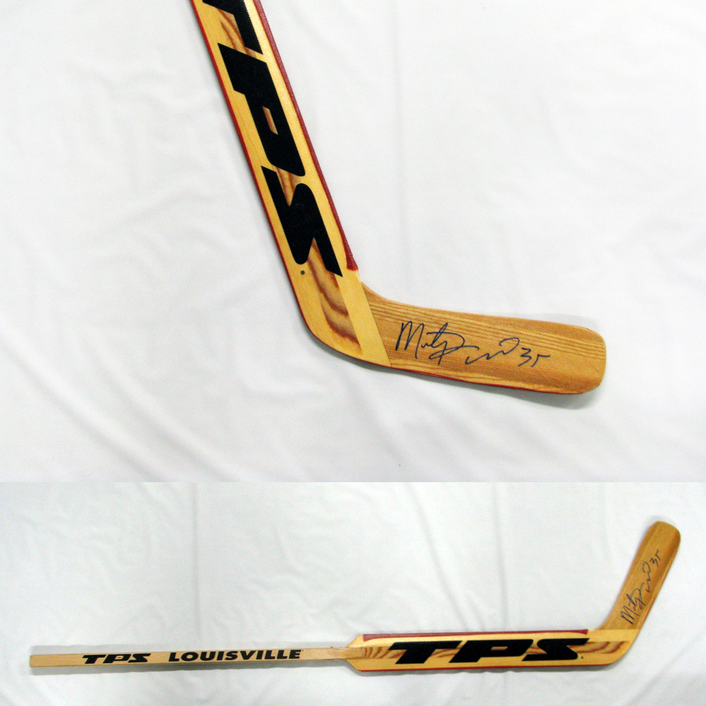 MARTY TURCO Signed TPS Goalie Stick - Dallas Stars