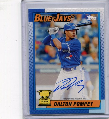 Photo of 2015 Topps Archives '90 Topps All Star Rookies Autographs #90ASDP Dalton Pompey 73/199