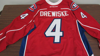 AHL RED GAME ISSUED DAVIS DREWISKE JERSEY SIGNED (1 OF 2)