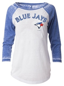 Toronto Blue Jays Women's Faded 3/4 Raglan Scoop T-Shirt by 5th & Ocean