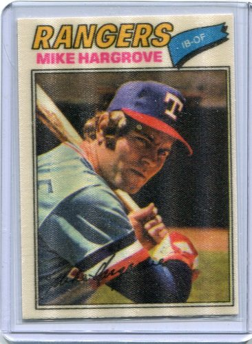 Photo of 1977 Topps Cloth Stickers #20 Mike Hargrove