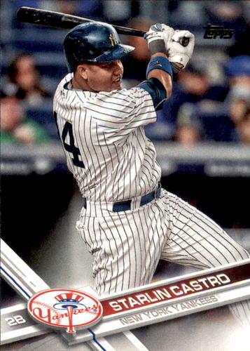 Photo of 2017 Topps #556 Starlin Castro -- Yankees post-season