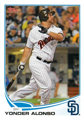 Photo of 2013 Topps #223 Yonder Alonso