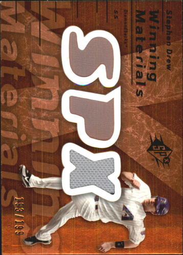 Photo of 2007 SPx Winning Materials 199 Bronze #SD Stephen Drew/199