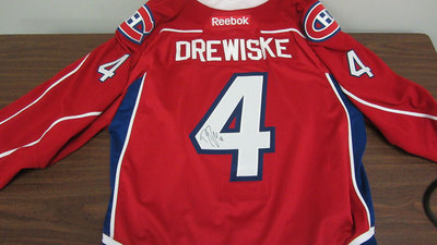 AHL RED GAME ISSUED DAVIS DREWISKE JERSEY SIGNED (2 OF 2)