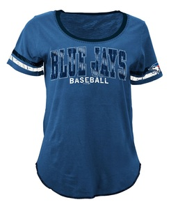 Toronto Blue Jays Women's Slub Scoop Foil T-Shirt by 5th & Ocean