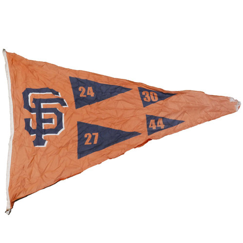 Photo of San Francisco Giants - Stadium Flag - SF Retired Numbers