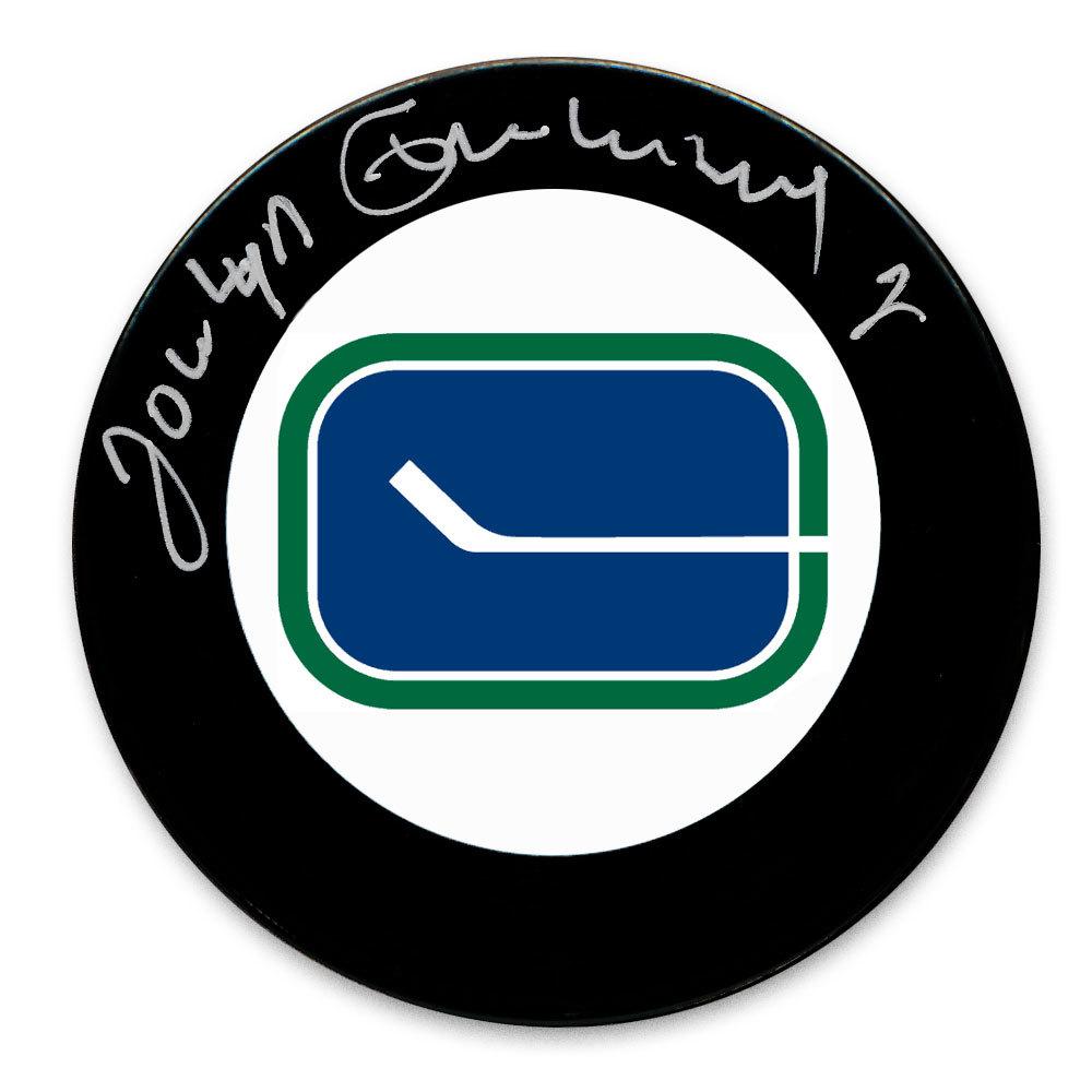 Jocelyn Guevremont Vancouver Canucks Autographed Puck