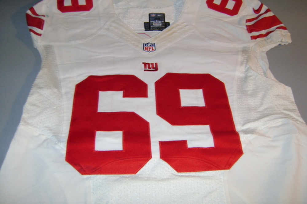 NFL INTERNATIONAL SERIES - GIANTS BRETT JONES GAME WORN GIANTS JERSEY (OCTOBER 23 2016)