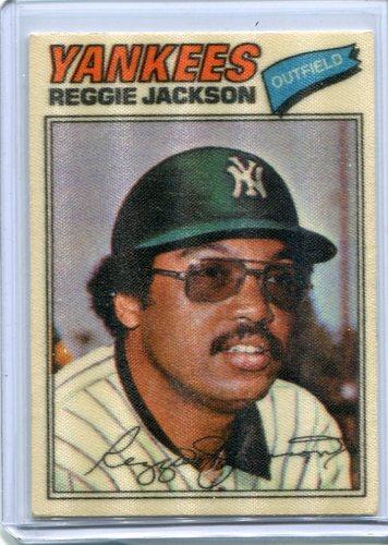 Photo of 1977 Topps Cloth Stickers #22 Reggie Jackson