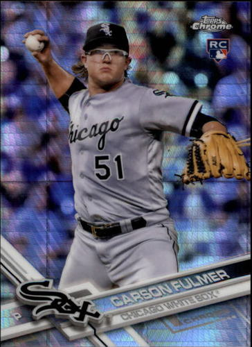 Photo of 2017 Topps Chrome Prism Refractors #12 Carson Fulmer