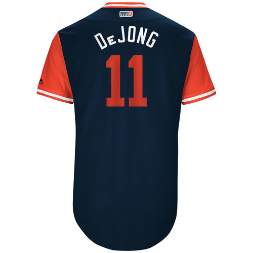 """Photo of Paul """"DeJong"""" DeJong St. Louis Cardinals Game-Used Players Weekend Jersey"""