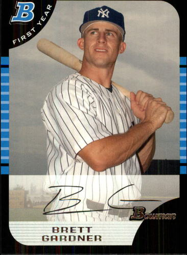 Photo of 2005 Bowman Draft #85 Brett Gardner Rookie Card -- Yankees post-season