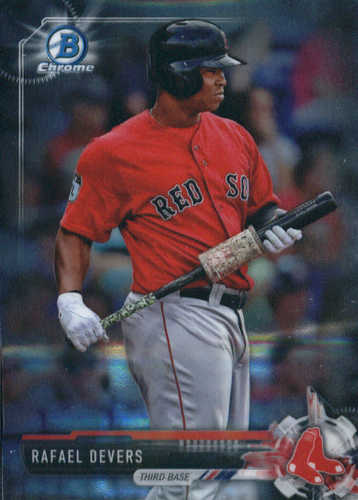 Photo of 2017 Bowman Chrome Prospects  Rafael Devers -- Red Sox post-season