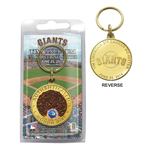 Photo of San Francisco Giants - Tim Lincecum 2014 No Hitter Game-Used Dirt Key Chain