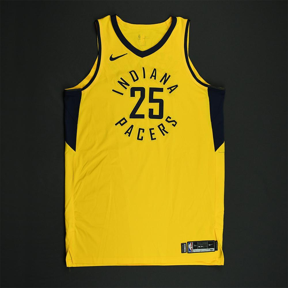 Al Jefferson - Indiana Pacers - 2018 NBA Playoffs Game-Worn Statement Jersey - Dressed, Did Not Play