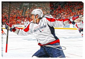 Alexander Ovechkin - 20x29 Washington Capitals Celebration Canvas - 2016 Stanley Cup Playoffs