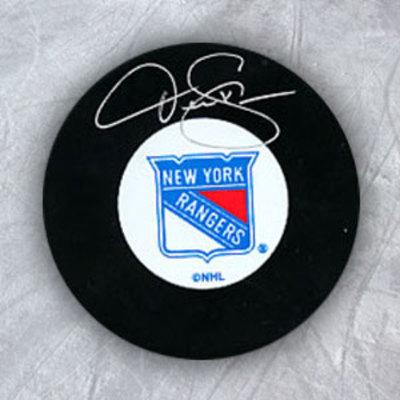 DEREK SANDERSON New York Rangers Autographed Hockey Puck