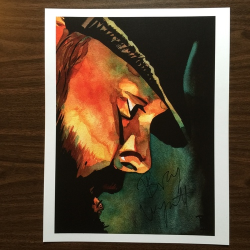 "Photo of Bray Wyatt SIGNED 11"" x 14"" Rob Schamberger Print"