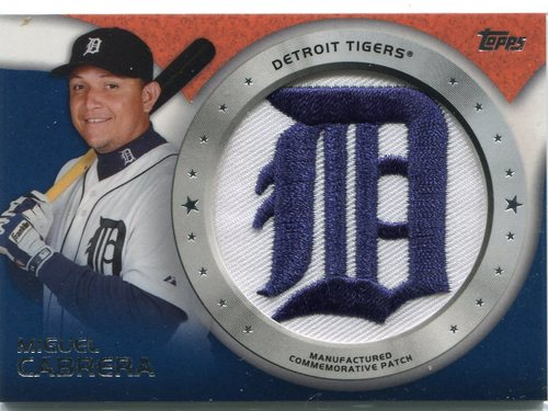 Photo of 2014 Topps Manufactured Commemorative Team Logo Patch #CP4 Miguel Cabrera
