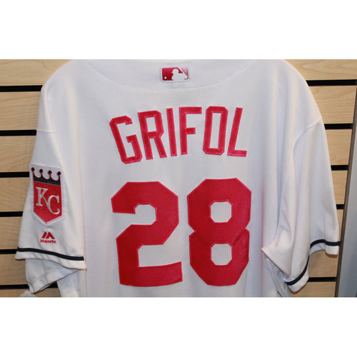 Photo of Game-Used Pedro Grifol Mother's Day Jersey (Size 50) (5/14/17 BAL @ KC)