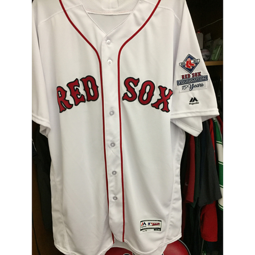 Photo of Red Sox Foundation 15th Anniversary - Dustin Pedroia Team-Issued and Autographed Jersey